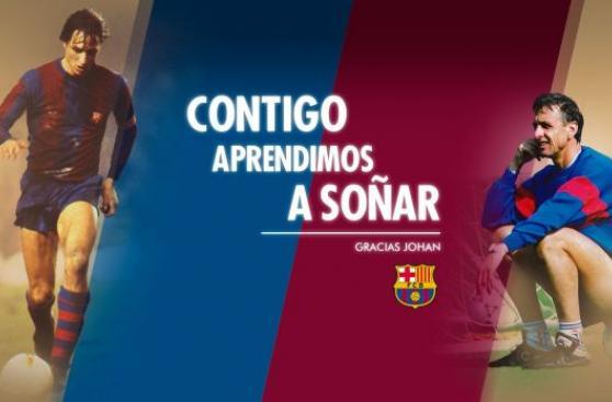 Barcelona dedicará estadio a Johan Cruyff a un año de su muerte