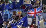 """Protesta en Londres: """"Terrorismo no nos dividirá, Brexit sí"""""""