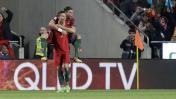 Portugal goleó 3-0 a Hungría con doblete de Cristiano