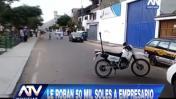 Villa María del Triunfo: 'marcas' roban S/50 mil a empresario