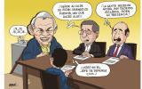 Humor político a flor de piel en la gráfica de Omar Zevallos.