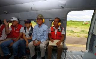 Tumbes: PPK sobrevoló zonas afectadas por las lluvias