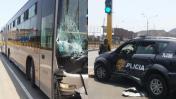 Metropolitano: patrullero chocó con bus en SMP