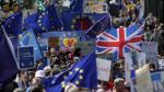 """Protesta en Londres: """"Terrorismo no nos dividirá, Brexit sí"""" - Noticias de policía atropellado"""