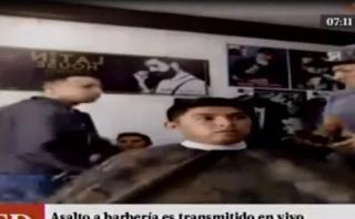 SMP: asalto en barbería fue transmitido por Facebook Live