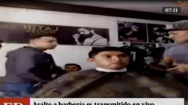 SMP: asalto a barbería fue transmitido vía Facebook Live