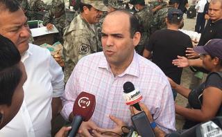 Fernando Zavala afirmó que será la PCM la que liderará el proceso de reconstrucción tras los desastres ocasionados por huaicos e inundaciones. (Foto: PCM)