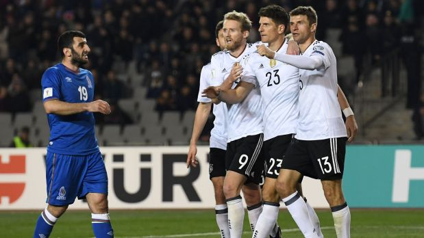 La selección de Azerbaiyán sufrió una goleada en Bakú a manos de Alemania por Eliminatorias europeas. (Foto: AFP / Video: YouTube)
