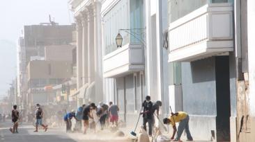 Trujillo se puso de pie: vecinos limpiaron el Centro Histórico