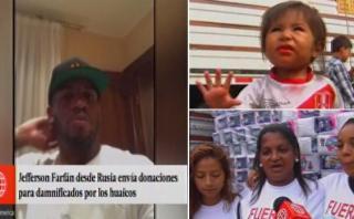 Farfán se solidarizó con los damnificados y envió donativos
