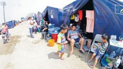 Carapongo: damnificados convierten carpas en sus hogares