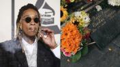 Wiz Khalifa deja flores en tumba de Pablo Escobar en Colombia