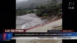 Caída de huaicos bloquea Vía Los Libertadores