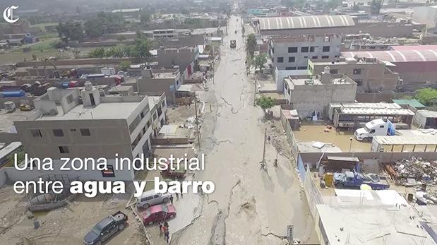 ¿Cuánto afectaron huaicos a zonas industriales del país?