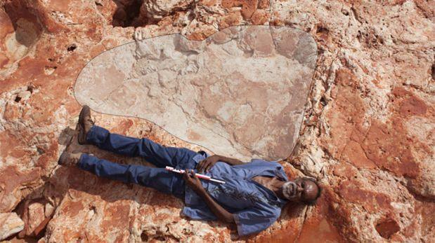 La huella de dinosaurio más grande registrada hasta ahora