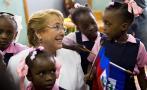 Bachelet visita Haití y aborda la crisis migratoria [FOTOS]