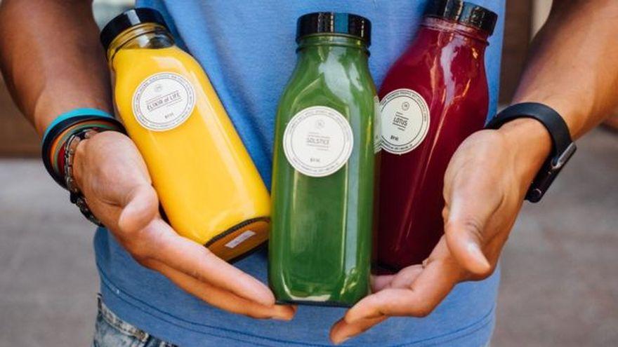 La empresa tiene una gama de jugos de frutas y vegetales.