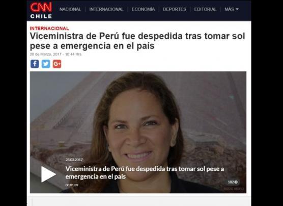 Perú: El escándalo de la viceministra dio la vuelta al mundo