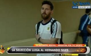 Lionel Messi llegó al Hernando Siles de La Paz e hizo esto
