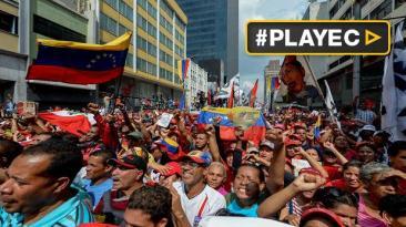 Chavistas marcharon en Caracas contra sesión de la OEA