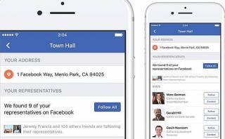 Facebook lanza función que contacta con autoridades políticas