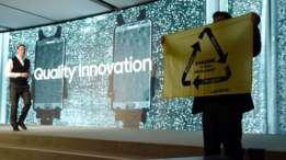 Greenpeace presionó a Samsung durante el Mobile World Congress. La empresa ha respondido a las críticas. (Foto: Getty Images)