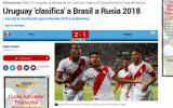 "Diario ""Marca"" de España indicó que Brasil clasificó a Rusia 2018 por la victoria peruana sobre Uruguay. (Foto: Internet)"