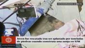 SJM: cerro sepulta a joven 12 horas cuando construía vivienda