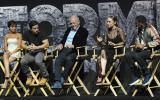 Isabela Moner, Mark Wahlberg, Anthony Hopkins, Laura Haddock y Jerrod Carmichael en una mesa del CinemaCon 2017. (Foto: Agencias)