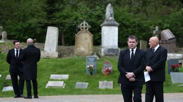 Tres meses después de su muerte, George Michael tuvo funeral