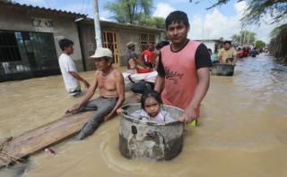 Una de las imágenes que se han registrado en la zona de Pedregal Grande, en el distrito de Catacaos (Piura). (Foto: Lino Chipana/El Comercio).
