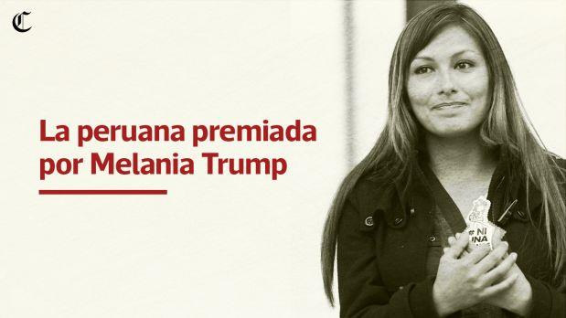 Melania Trump premia a peruana Arlette Contreras en Washington