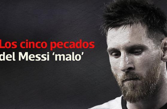 Lionel Messi y sus cinco pecados cometidos en el fútbol