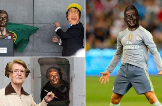 Cristiano Ronaldo: jocosos memes por busto en aeropuerto