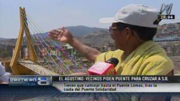 Puente Solidaridad: molestias en vecinos para cruzar a SJL