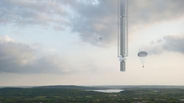 Presentan concepto de rascacielos que colgará de un asteroide