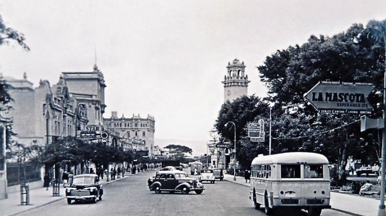 Larco en los años 50. Actualmente reúne más de 600 comercios (Foto: Municipalidad de Miraflores)