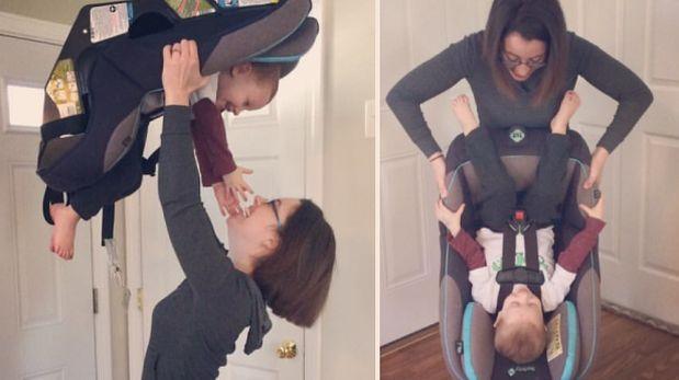 """Facebook: joven madre somete a su hijo a """"prueba de seguridad"""""""