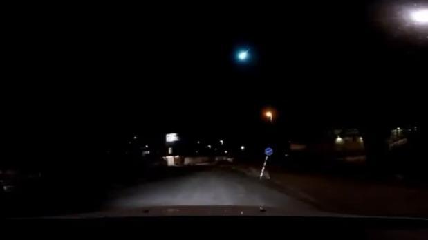 Meteorito iluminó firmamento sueco y sorprendió a habitantes