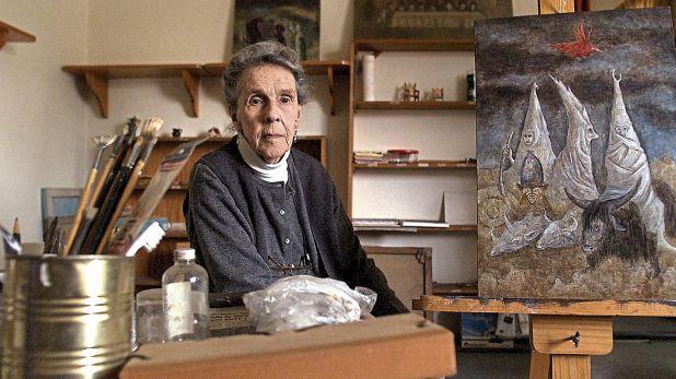 Leonora Carrington en el 2000, once años antes de su fallecimiento. (Reuters)
