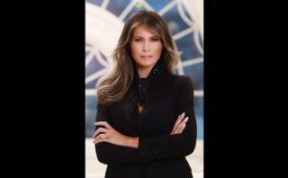 El primer retrato oficial de Melania Trump como primera dama