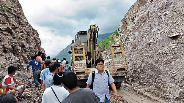 En Cajamarca, el tránsito es restringido debido a las lluvias. (Foto: Cortesía)