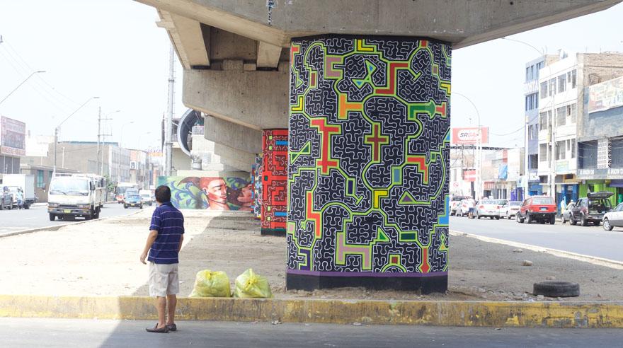 Shipibos le dan color al entorno de la Línea 1 del Metro