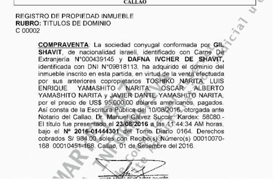 Odebrecht: La cuñada de Félix Moreno trabajó con Gil Shavit