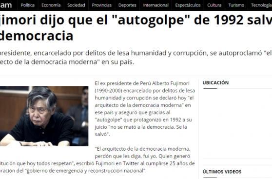 5 de abril: La prensa internacional recuerda el autogolpe