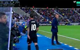 Real Madrid: Zidane minimizó la cólera de James Rodríguez