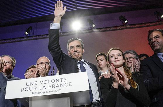 El ataque con harina contra un candidato presidencial francés