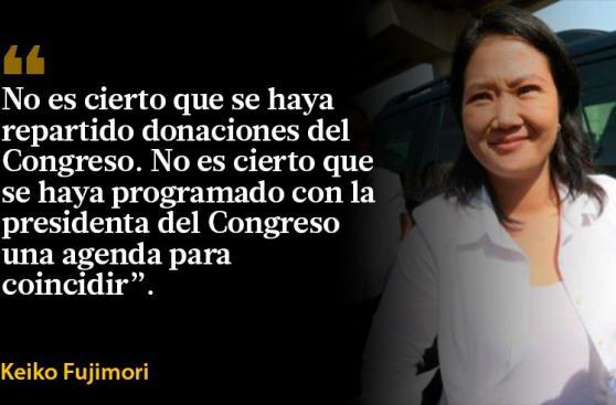 Las frases que dejó Keiko sobre donaciones y control de medios