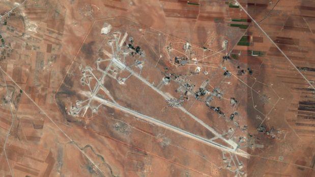 Google Maps: esta es la base aérea Siria que fue bombardeada