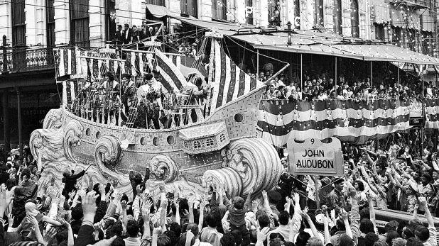 Celebración del Mardi Gras en Nueva Orleans, una fiesta carnavalesca de influencia europea y católica. (Foto: Getty Images)
